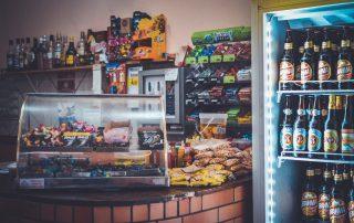 convenience store shelves
